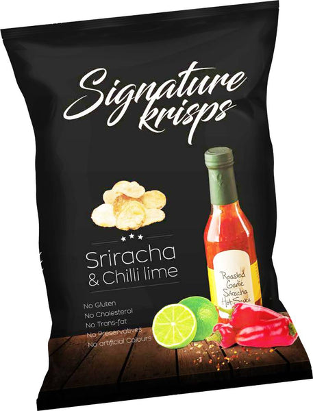Signature Kettle Krisps Potato Chips Sriracha & Chilli Lime Packet 30g
