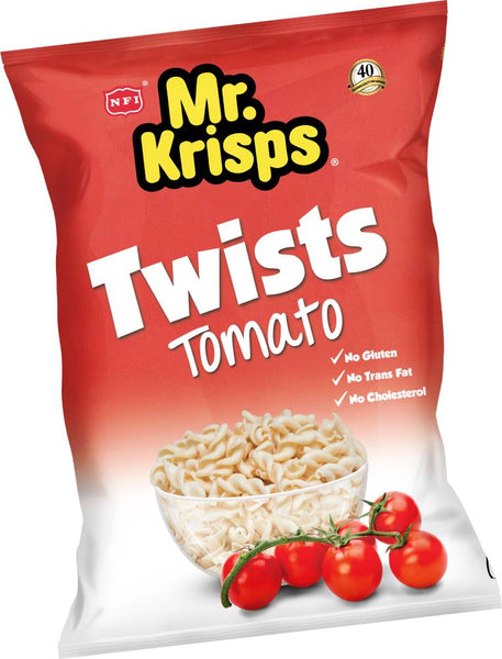 Mr Krisps Tomato Flavour Potato Twists 80g Packet