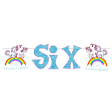 Party Propz Unicorn Age Banner Six- Birthday Party Decoration | Deepika