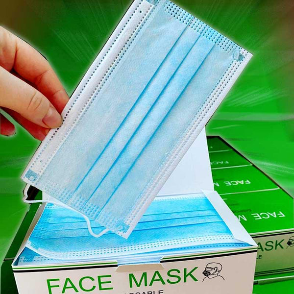 Disposable 3Ply Face Masks 50pcs Box Special Offer