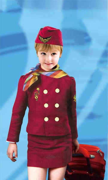 Kids Air Hostess Kids Costume - emarkiz-com.myshopify.com