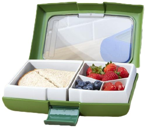 Trudeau Fuel Bento Snack BPA Free Lunch Box Green
