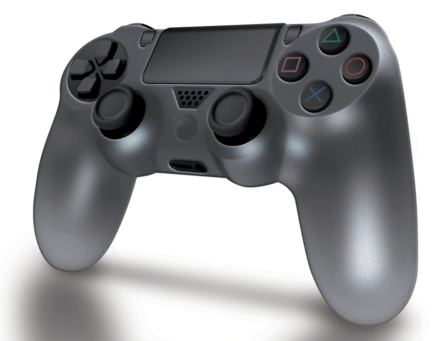 Dream Gear PS4 Comfort Grip Silicon Cover Gaming Controller - Smoke Gray