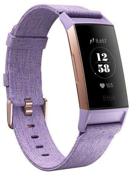 Fitbit Charge 3 Special Edition Lavender Woven Fitness Tracker - emarkiz-com.myshopify.com