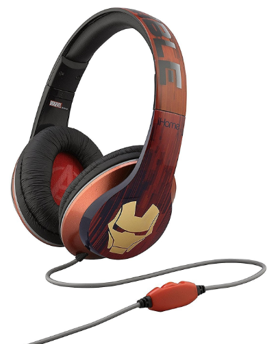 iHome Kiddesigns Over-Ear Headphone With Mic - Iron Man - emarkiz-com.myshopify.com