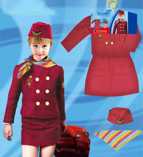 Kids Air Hostess Kids Costume