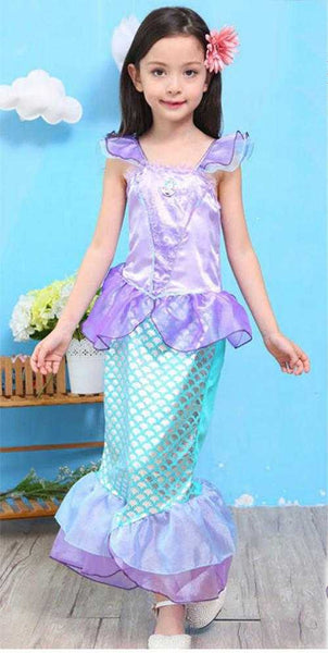 Girls Mermaid Costume Purple and Green - emarkiz-com.myshopify.com