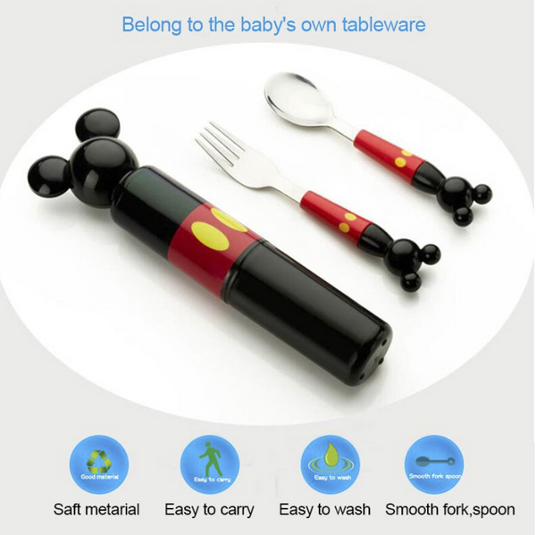Mickey Mouse Stainless Steel Cutlery Set for Kids - emarkiz-com.myshopify.com