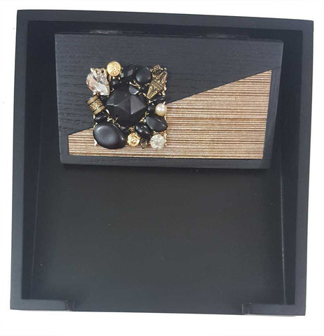 Spark Decorative Napkin Tray with Stone and Beadwork Table Decor Gift Item