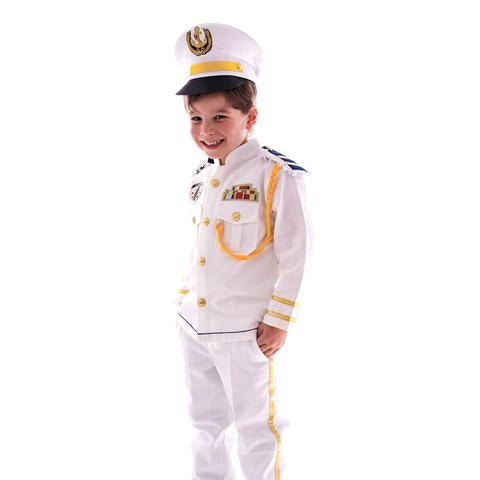 Navy Police White Uniform Kids Costume