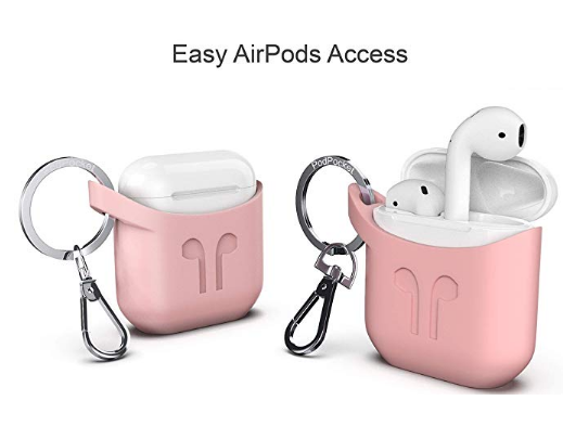 PODPOCKET Silicone Case for Apple AirPods - Pink Ash - emarkiz-com.myshopify.com