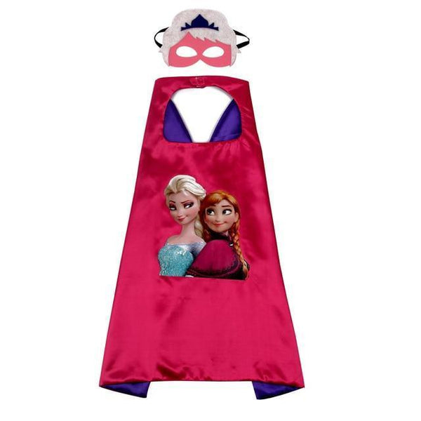 Frozen Costume with Cape and Mask Red