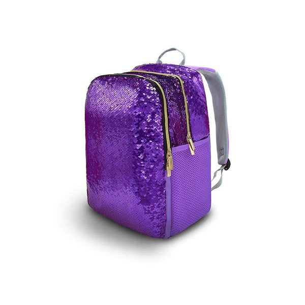 Blackstone Reversible Sequins Glitter Purple Small School Backpack - emarkiz-com.myshopify.com