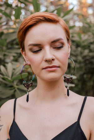 Hawkmoth Giant Fantasy Hoop, Earrings