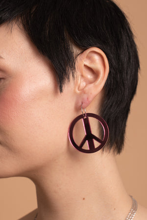 Rauha, Copper Glitter, Petrol Mirror or Pink Mirror Casual Earrings