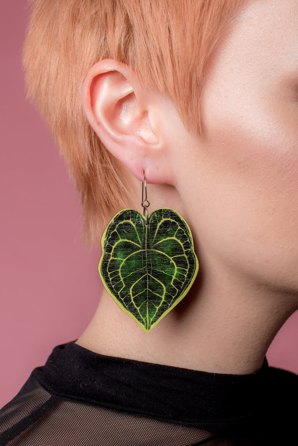 Botanicalist Leaf Earrings, Wood