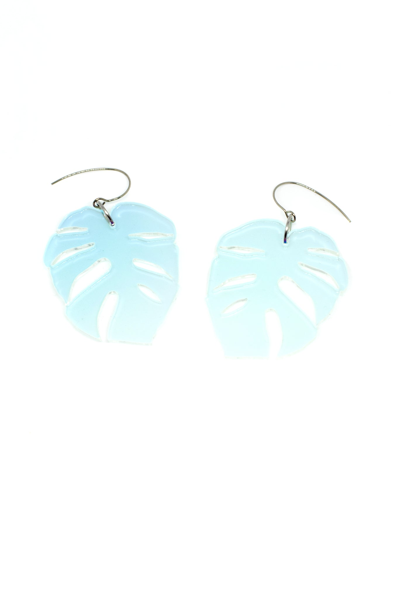 Monstera Statement Size Earrings, Hologram