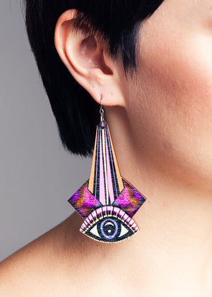 AW19 Ada earrings, Wood