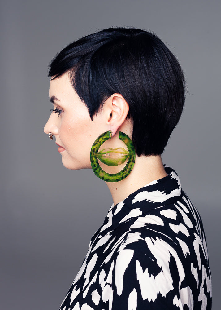 AW19 Deborah Maxi  Hoops, Poison Ivy color, Recycled Acrylic