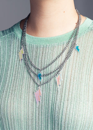 AW19 Sofia Lightning Necklace, Hologram