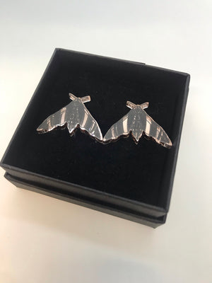 Nightfly Stud Earrings, Rose Gold Mirror