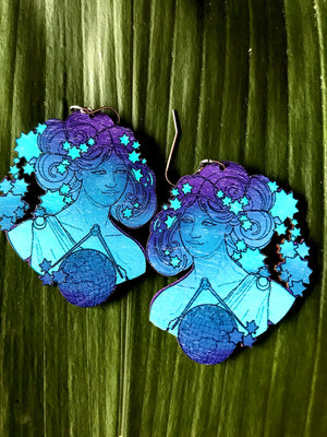Muse Earrings Turqoise/Violet