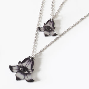 Mineatures Flower Totems Bellflower Charm Necklace, Double Sided Mirror
