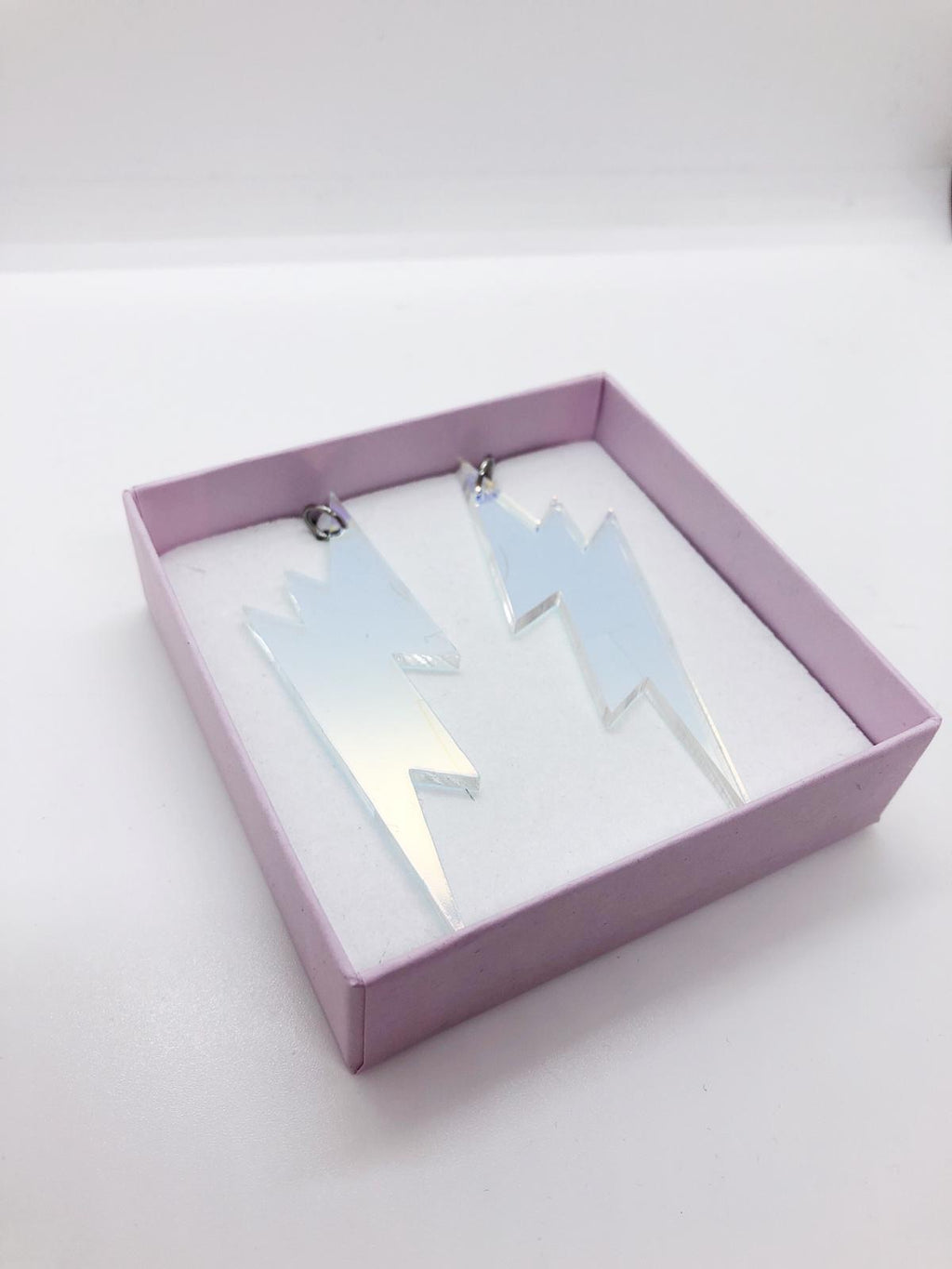 Lightning Earrings,  Holographic