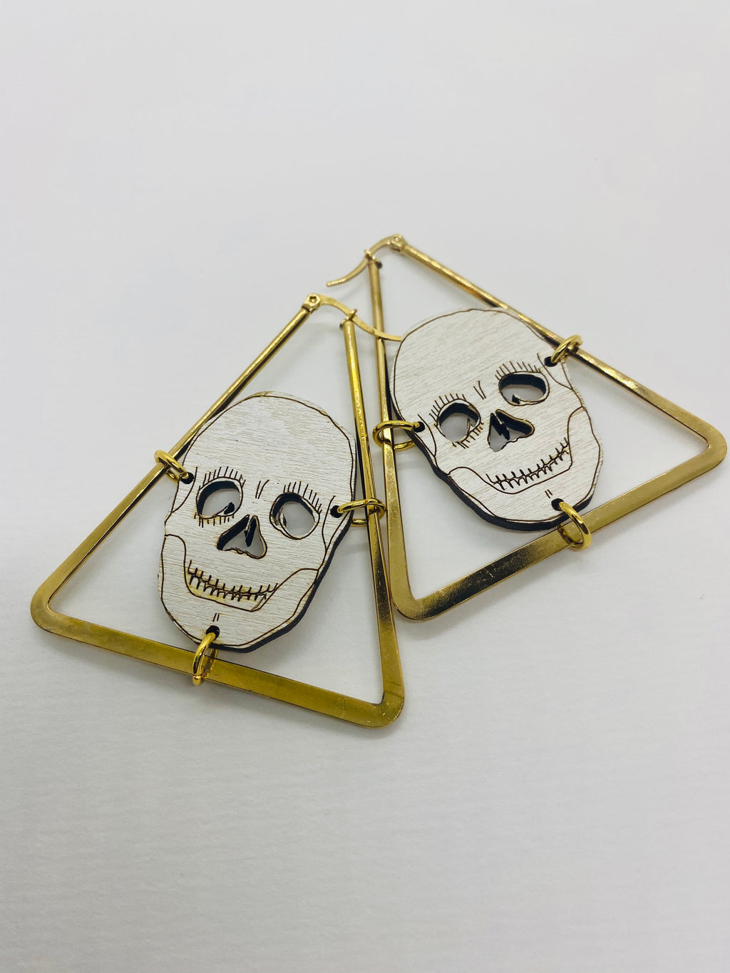 Skull Triangle Earrings