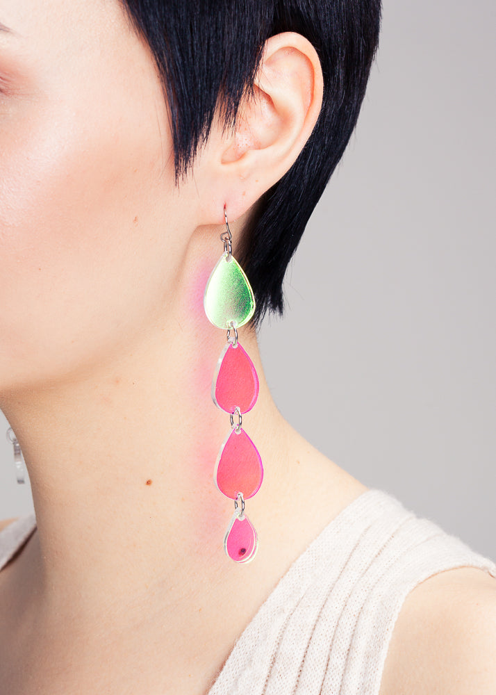 Unicorn Tears Earrings, Hologram