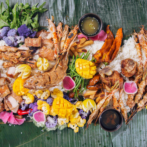 Island Feast / Traditional Filipino Feast featuring a full range of culinary flavors & textures from this culturally-rich country in Southeast Asia.
