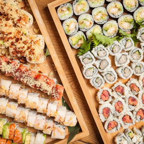 Sushi Rolling Class / Try your hand at maki making using seaweed wraps, sticky rice, spicy tuna and more at this fun event!