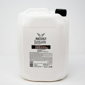 redist natural milk & run honey shampoo galon