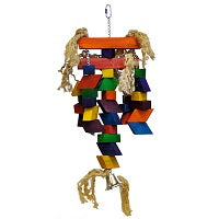 Large Colored Blocks Bird Toy