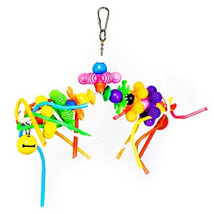 Swing with Spiral Cut Straws - Toys for Tweets