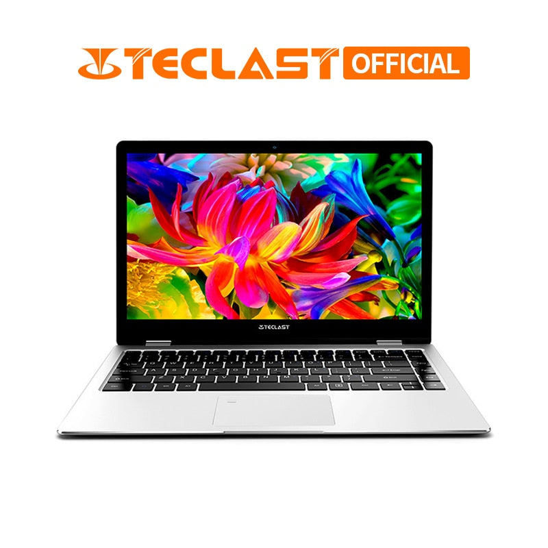 Teclast F6 Pro 360 Degree Laptop Windows 10 OS 13.3 inch 1920x1080 8GB RAM 128GB SSD Intel Core m3-7Y30 Dual Core Notebook