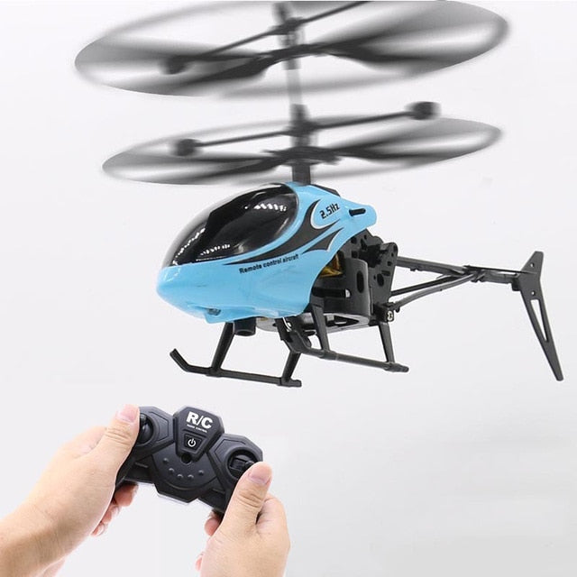 Mini RC drone QF810 2CH RC Helicopter Suspension Toy Gift For Children With LED Light For Birthday Gift Toys Quadcopter