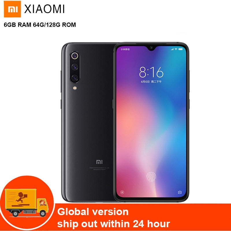 Xiaomi Mi 9 4G Mobile Cell Phone Phablet 6.39'' MIUI10 Qualcomm Snapdragon 855 Octa Core 2.84G 6GB 128GB 48MP Camera Fingerprint
