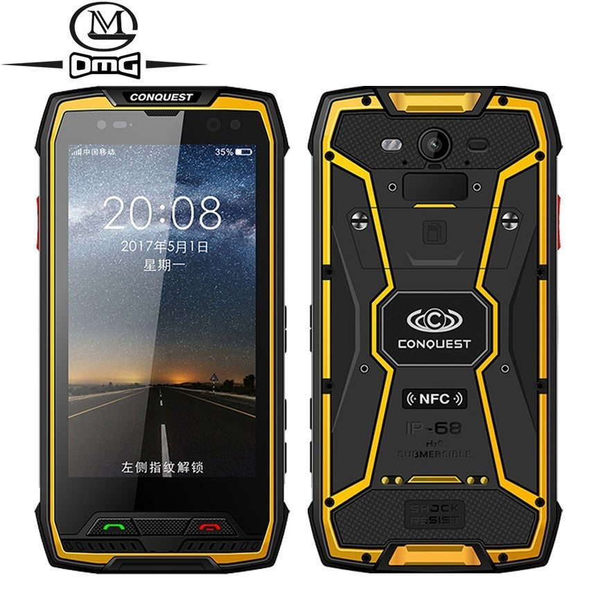 "Conquest S11 7000mAh 6GB RAM 128GB ROM IP68 Shockproof 4G Smartphone NFC OTG cell phones Android 7.0 Rugged 5.0"" Mobile Phone"