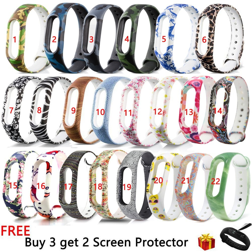 Silicone Wristband for Xiaomi Mi band 2 Strap Colorful Bracelet Wristband Replacement For Xiaomi Miband 2 Smart Band Accessories