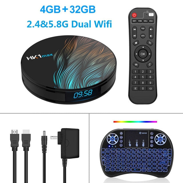HK1 Max Smart TV Box Android 9.0 4GB 128GB 64GB 32GB RK3328 RK3318 4K Wifi Netflix Set top Box Media Player 2GB16GB Android BOX