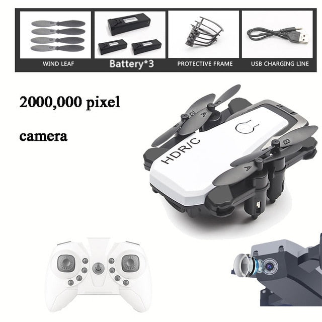 Foldable Mini Drone With RC Quadrocopter With Camera HD Quad-Counter With High Hold RC Helicopter With Headless Mode Kid's Toys