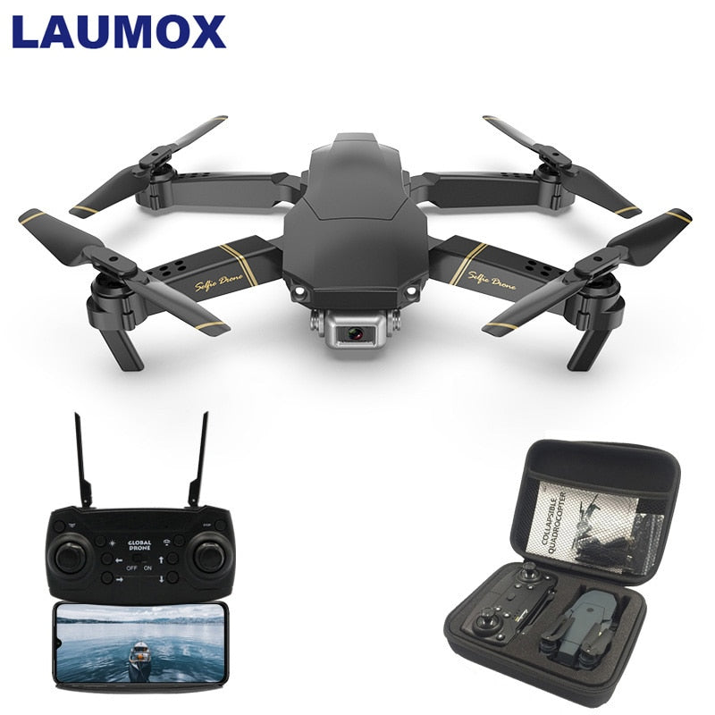 LAUMOX M65 RC Drone with Camera HD 1080P FPV WIFI Altitude Hold Function Selife Drone Folding Quadcopter Vs E58 SG106 XS816 Dron