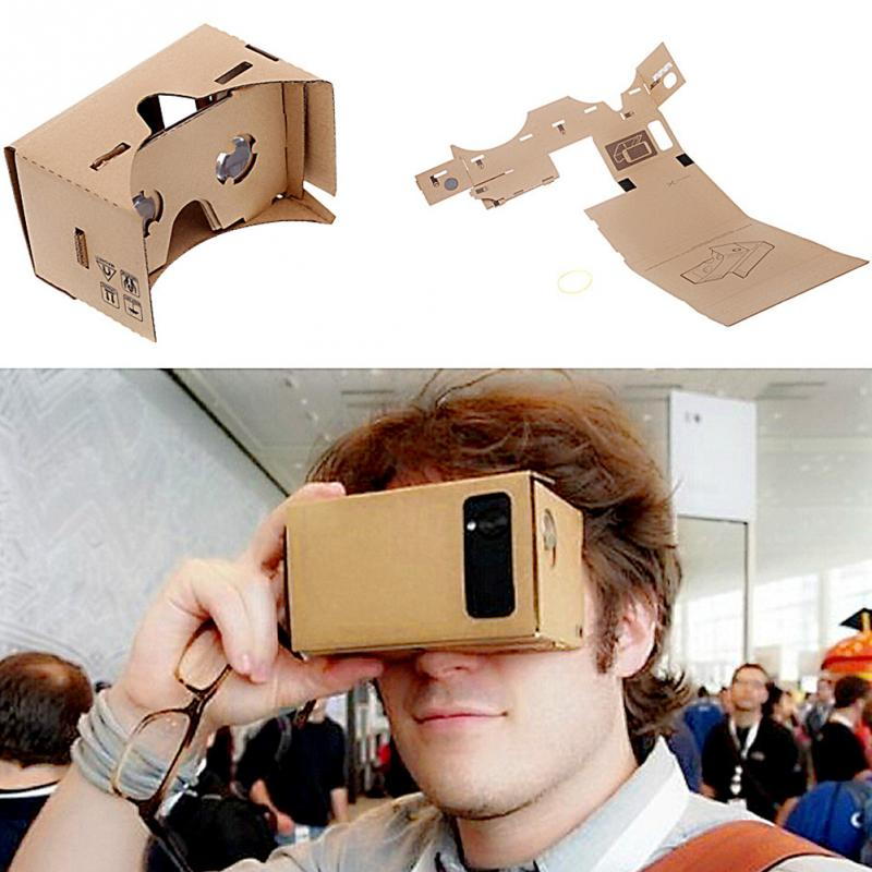 "Brand New DIY Google Cardboard Virtual Reality VR Mobile Phone 3D Viewing Glasses for 5.0"" Screen Google VR 3D Glasses"