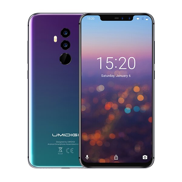 "UMIDIGI Z2 Special Edition Octa Core cell phone6.2"" FHD+Full Screen  4G+64GB F/1.7 Android 8.1 4G Smartphone gsm mobile phone"
