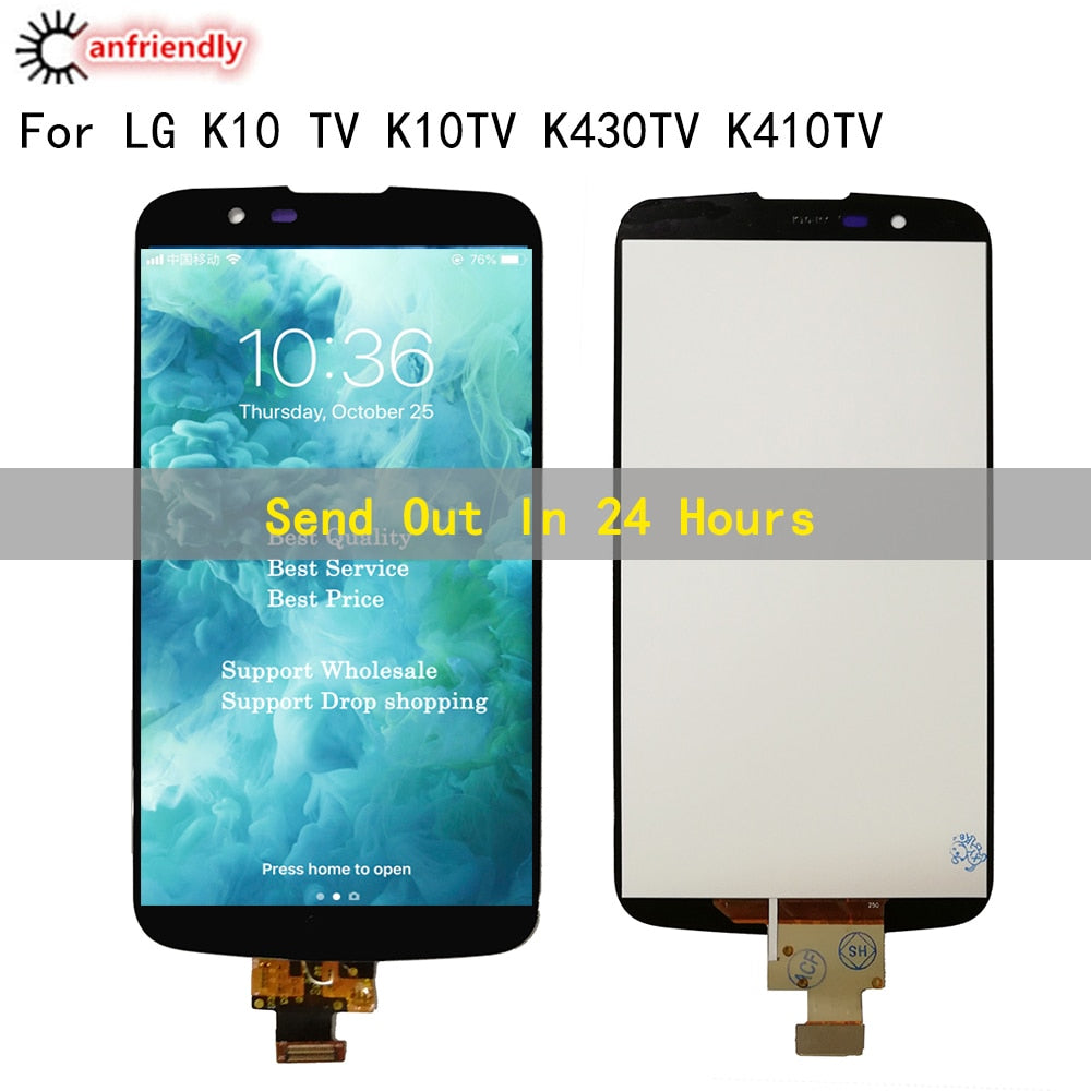 "5.3""For LG K10 LTE K420N K430 K430DS K410/ K10TV K430TV K10 TV LCD Display Touch panel Screen Digitizer Assembly with Frame"