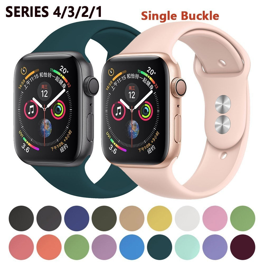 Silicone Strap For Apple Watch bands 42mm 4 3 2 iwatch band 38mm 44mm 40mm pulseira correa Bracelet smart watch Accessories loop
