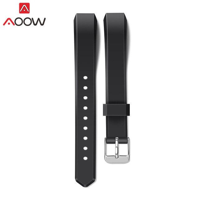 Silicone Soft Watchband for Fitbit Alta / Alta HR Smart Watch Secure Fitness Sport Waterproof Replacement Bracelet Band Strap