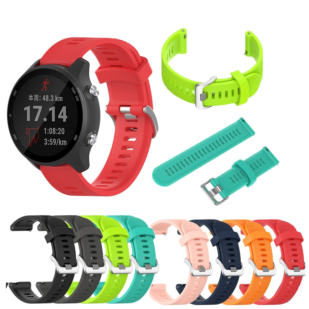 Colorful Soft Silicone Replacement Strap for Garmin Forerunner 245 /245M Smart wristband for Garmin Forerunner 645 Watch band