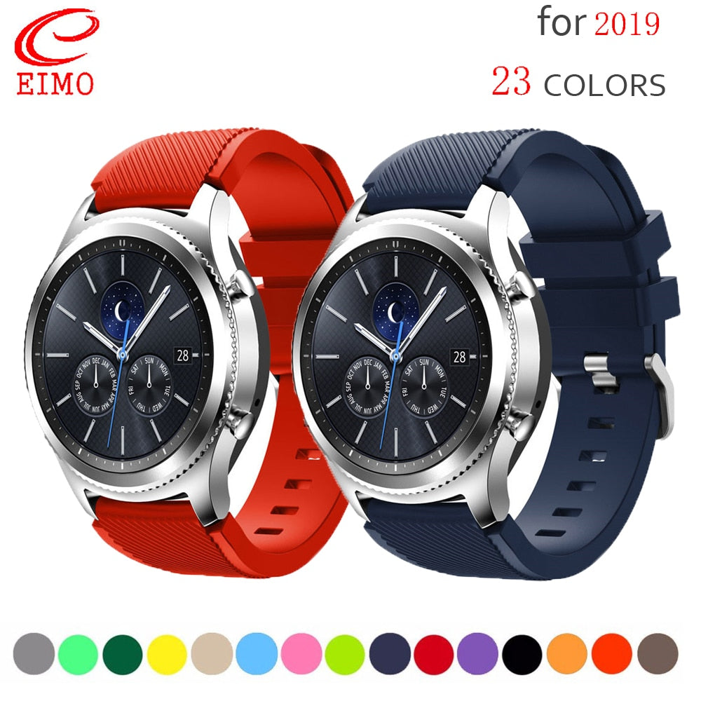 gear S3 frontier for Samsung galaxy watch 46mm band samsung gear S3 classic frontier smart watch accessories wrist bracelet belt